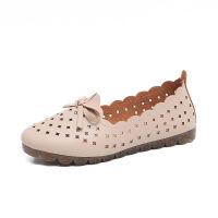 【软底】女妈妈鞋平底学生休闲单鞋一脚蹬白色护士鞋