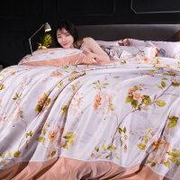 床上冰丝欧式丝滑床笠灰色天丝网红款床单四件套床品套件