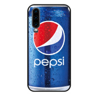 华为P30手机壳P30硅胶防摔华为P30pro个性创意p30pro趣味恶搞网红时尚华为彩绘浮雕简约商 P30 蓝色百事