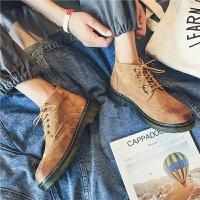 夏季时尚马丁靴男中高帮鞋夏季透气英伦风复古工装鞋潮流百搭真皮短靴子潮 42