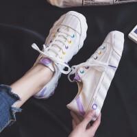 梵托迪 小白鞋女2019夏季新款休闲鞋女韩版学生百搭板鞋平底帆布透气运动女鞋 糖果 / 白色