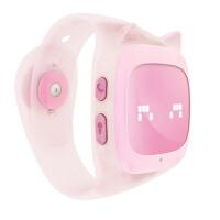 搜狗 糖猫 儿童电话手表 gps定位 T2 学生儿童女孩防水能打电话的手表 粉