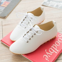 小白鞋韩版小白鞋春夏季女鞋子系带小皮鞋休闲平底单鞋