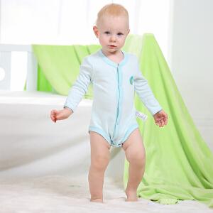 【加拿大童装】 Gagou Tagou婴幼儿纯棉长袖前开扣包屁衣