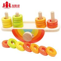 儿童早教益智四套柱积木质拼图玩具小男孩女孩宝宝1-2-3周岁4-6岁
