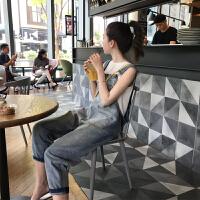 2019春秋新款潮妈时尚宽松外穿阔腿裤孕妇裤子春装孕妇牛仔背带裤