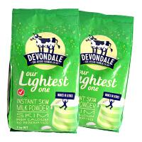 【 2袋装】澳大利亚Devondale德运脱脂高钙儿童中老年成人奶粉1000g*2袋装 保质期到17年4月份左右