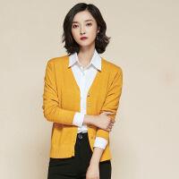 针织衫开衫女学生韩版宽松修身型秋冬毛衣长袖薄短款小外套外搭
