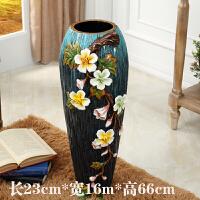 欧式落地客厅奢华大花瓶欧式落地大花瓶美式花卉陶瓷仿真花瓶家居客厅摆件装饰品