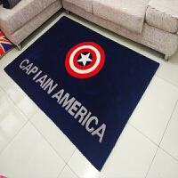 个性英伦风米字旗美国队长盾牌客厅地毯美式欧式卧室床边男孩卡通