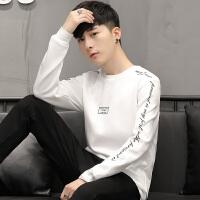 男士长袖T恤修身V领韩版卫衣男装秋季纯色青年男T恤打底2018新品