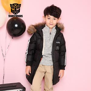 【3件3折到手价:197.7】变形金刚童装男童冬季新品长款羽绒服