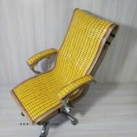 凉席竹垫子办公室上班摇躺电脑椅坐垫加靠垫连一体夏季天防滑透气