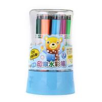 掌握印章水彩笔ZW-205 可洗涂鸦笔 桶装填色笔 美术绘画笔 彩绘笔 12色/18色/24色/36色可选