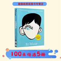 【200减70】Wonder 奇迹男孩 英文原版小说 R.J. Palacio 青春励志 纽约时报热销书 当代文学同名电