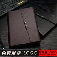 高档商务a5记事本子加厚可拆卸皮面活页本工作笔记本定制可印logo