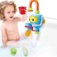 宝宝潜水员喷水花洒玩具儿童浴室洗澡戏水水龙头沐浴盆玩水转转乐