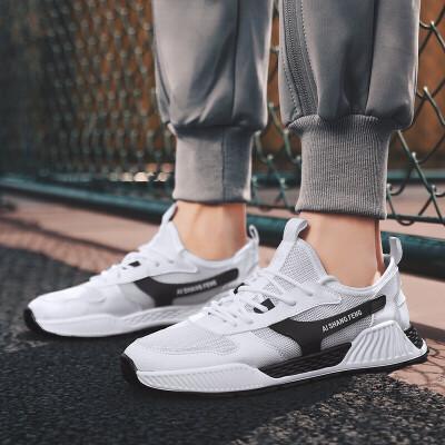 2019新款男鞋夏季潮鞋的鞋子潮流板鞋百搭跑步透气网面运动休闲男士网鞋
