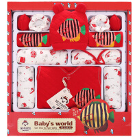 班杰威尔 加厚婴儿衣服新生儿礼盒 秋冬纯棉刚出生满月宝宝套装 年年有鱼款