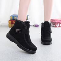 冬季老北京布鞋女高帮棉鞋加绒保暖妈妈防滑加厚中老年人休闲棉靴