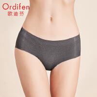 【2件3.5折到手价:45】欧迪芬2020新款女士中腰平角裤一片式无痕舒适柔软提臀内裤XP0502