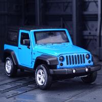 仿真JEEP吉普车合金汽车模型声光回力金属越野车玩具车摆件