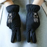 冬天手套女式保暖触摸屏开车防滑户外防寒分指冬