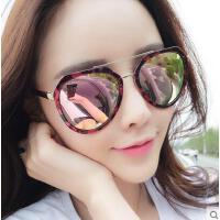 女太阳镜 新款时尚墨镜 户外太阳镜女潮偏光开车墨镜圆脸多边形蛤蟆眼镜大脸长脸