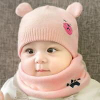 宝宝帽子 秋冬季3-6-12-24个月幼儿童公主毛线帽韩版男女孩婴儿帽