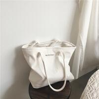 新款帆布包女单肩学生韩版购物袋文艺小清新ins大容量手提袋