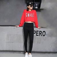 爵士舞舞蹈服女学生韩版嘻哈街舞服装宽松露脐上衣现代舞演出服潮2018新品