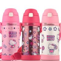 凯蒂猫保温杯儿童水壶带吸管学生婴儿便携防漏水杯子