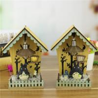 龙猫LED木质房子小夜灯摆件 创意新奇特家居个性树脂工艺品