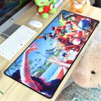 英雄 海贼联盟动漫王定制超大加厚鼠标垫可爱游戏键盘桌垫70X30CM(1)