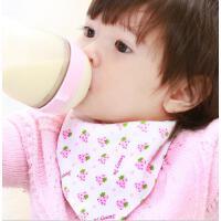 阳光菊 纯棉双面三角巾 婴儿口水巾 多花色围嘴 四线锁边