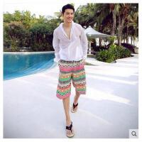 情侣沙滩裤海边蜜月度假休闲裤冲浪大码速干大裤衩男裤子