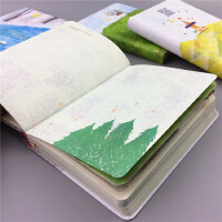 月光森林加厚128页彩页日记本A5精装笔记本唯美涂鸦封面学习礼品