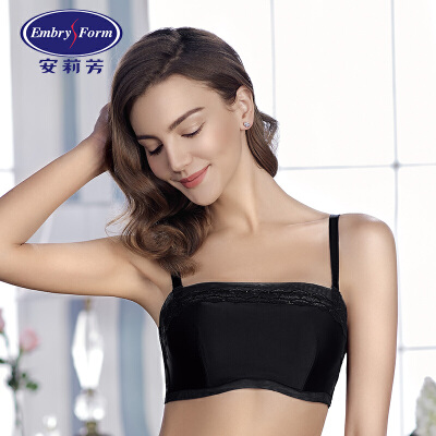 【2件3折:149.1】安莉芳文胸女士薄款防走光抹胸内衣性感蕾丝聚拢EB1228