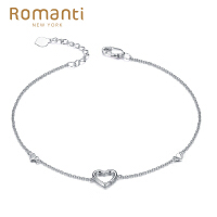 罗曼蒂珠宝18K金钻石手链女款时尚金链子需定制