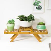 淘之良品花架子实木质落地客厅多层折叠花架阳台多肉室内花盆架置物架