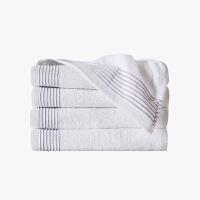 当当优品家纺浴巾 纯棉抗菌防臭毛巾吸水沙滩巾 60x120 白色