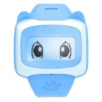 搜狗糖猫好友版儿童电话手表GPS智能定位E1 通话手环学生手机插卡 天空蓝
