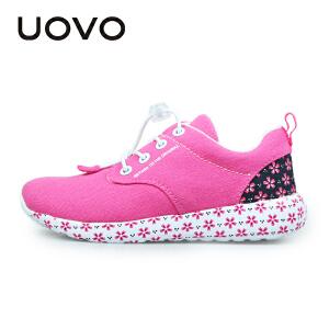UOVO2017女童鞋子春秋新品儿童休闲鞋女新款韩版中大童运动鞋跑鞋 奈良