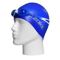 儿童泳镜泳帽套装男童女童通用防水护耳防雾平光游泳眼镜