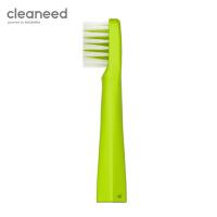 cleaneed 电动牙刷头 成人声波柔软敏感不伤齿 小白刷智能充电式 高伟光同款 青柠色*2