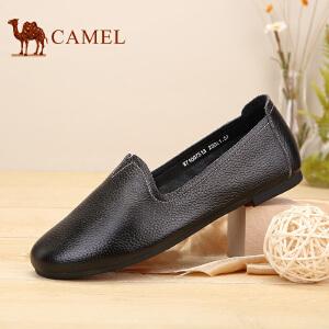 骆驼牌 女鞋 新品平底浅口单鞋女套脚舒适休闲鞋