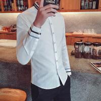 春英伦韩版修身潮男长袖衬衫衣美发师理发店发廊调酒吧KTV工作服