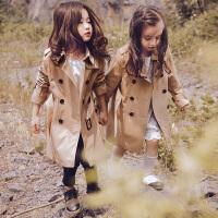 女童风衣春秋2017新款5韩版6儿童7秋装8外套9岁中大童长款秋款潮