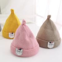 秋冬宝宝毛线奶嘴帽儿童女童婴儿男童女孩潮针织帽子