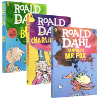 Roald Dahl 罗尔德达尔3本英文版 Fantastic Mr. Fox/The BFG 查理和巧克力工厂 英文